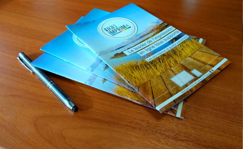 Brochure avec couverture - Imprimerie en ligne