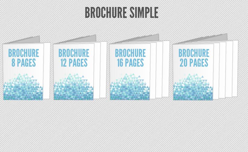 Imprimez vos brochures en ligne 8, 12, 16 ou 20 pages