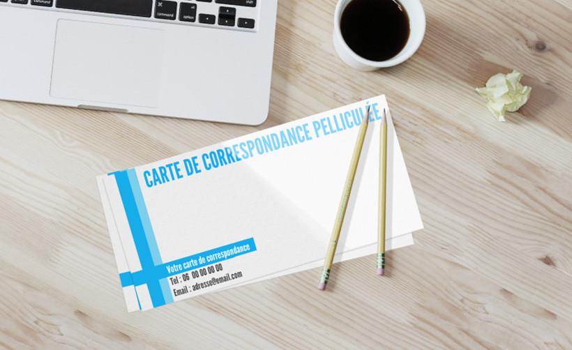 Carte de correspondance pelliculée - Imprimerie en ligne