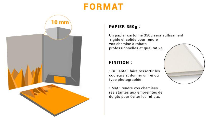 Impression en ligne de chemise à rabats 10mmm