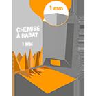Chemise à rabats - A4 - 1mm (6 feuilles)