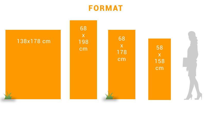 PLV de sol : chevalet de sol - Différentes tailles