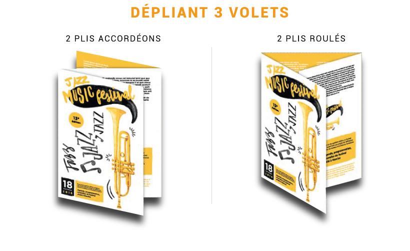 Dépliant, tract, prospectus 3 volets