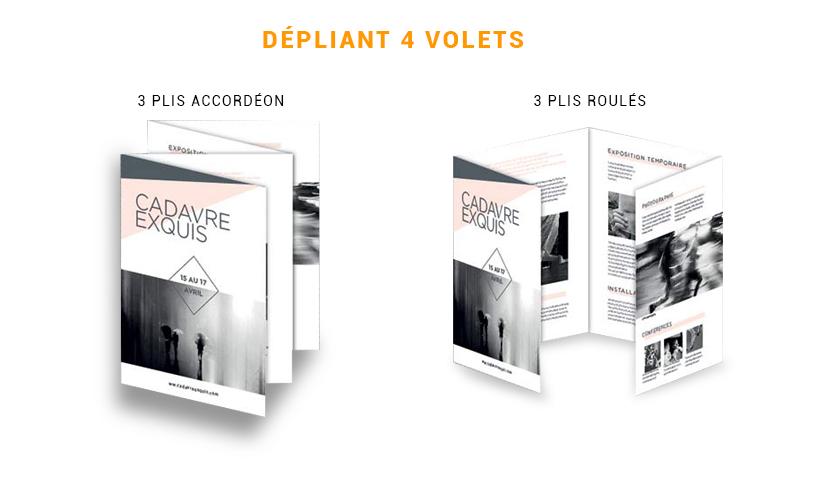 Dépliant, tract, prospectus 4 volets