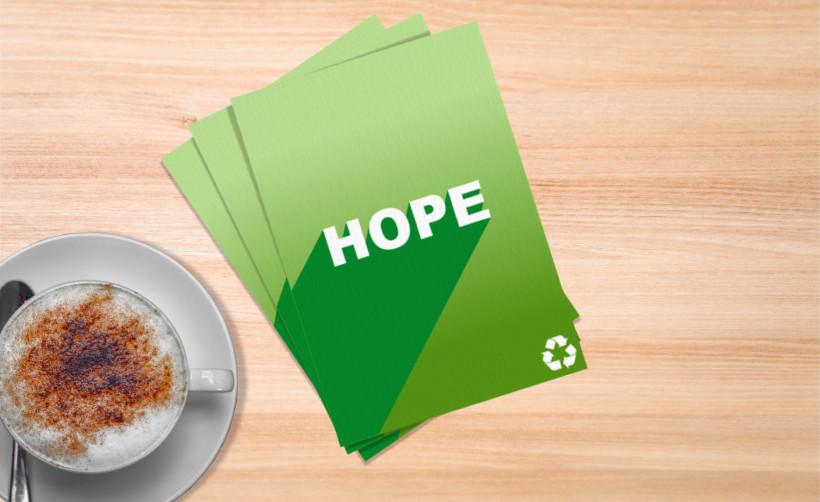 Impression en ligne de flyer recyclé