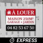 Impression panneau immobilier express