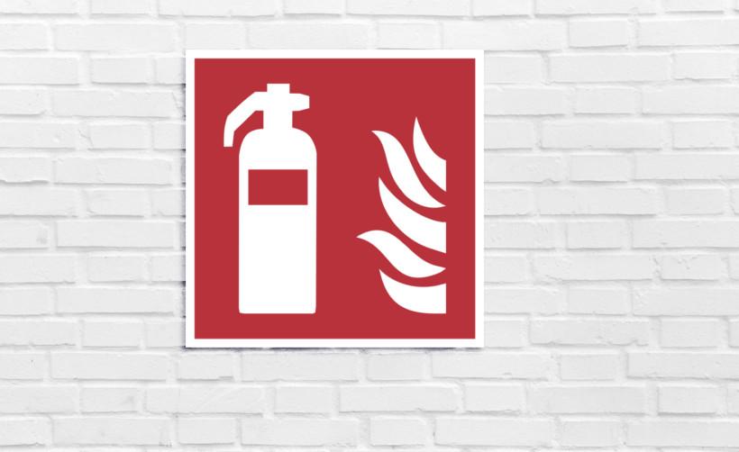 Signalétique de sécurité : extincteur d'incendie