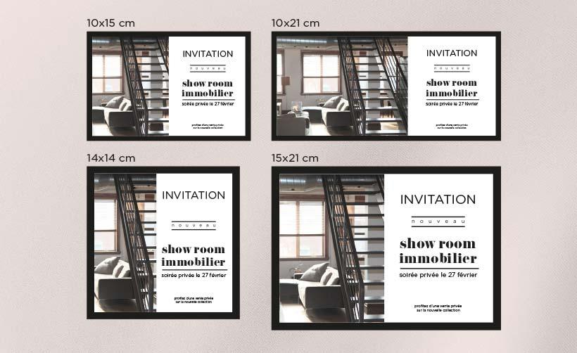 Format carton invitation