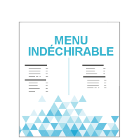 Menu indéchirable