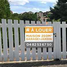 Panneau immobilier à vendre/à louer