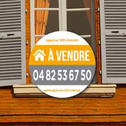 Panneau immobilier à louer / à vendre rond
