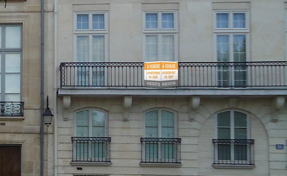 Panneaux immobiliers 80x120 Akilux 3mm