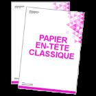 Papier en-tête classique