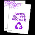 Papier en-tête recyclé