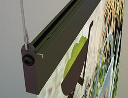 Porte affiche Magnétique Show Me Grande hauteur : Installation