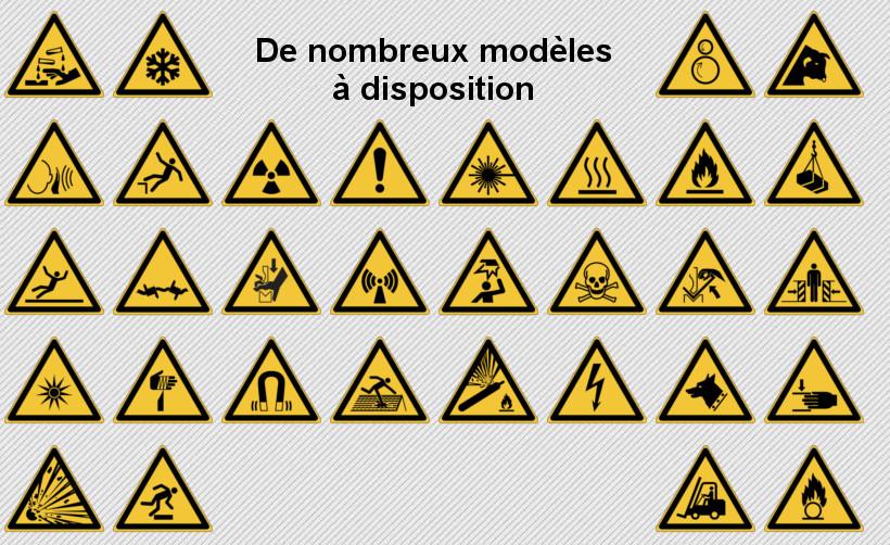 Signalétique de sécurité : modèles triangles