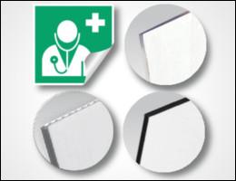 Signalétique d'usine : différents supports