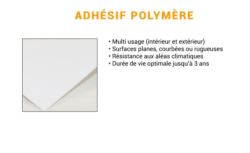 support polymère pour adhésif