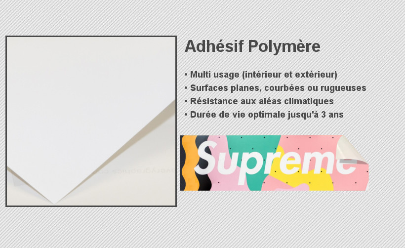 Découvrez les sticker petit format polymère de forme rectangle