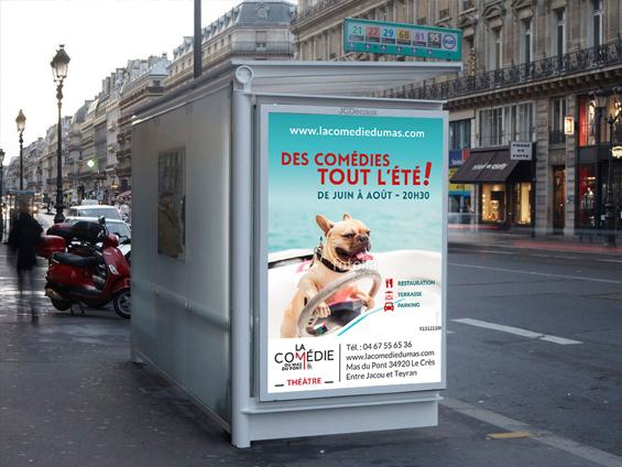 imprimer affiche abribus de centre ville taille 120x176 ou taille 118,5x175 cm