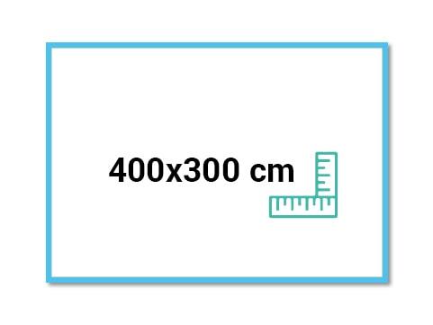 banderole 400x300 sur bache pvc