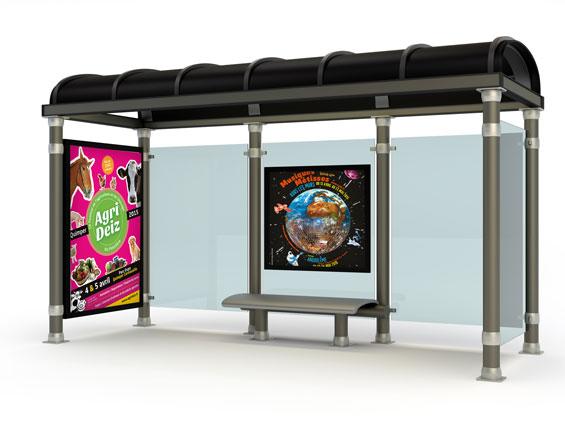 imprimer affiche abribus de metro dimension 120x176 cm ou 118,5x175