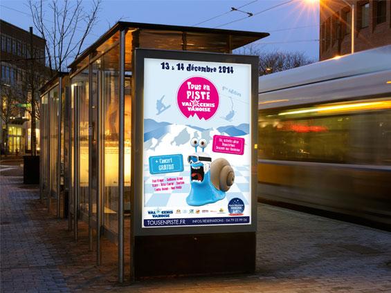 imprimer affiche abribus de centre ville 120x176 ou 118,5x175
