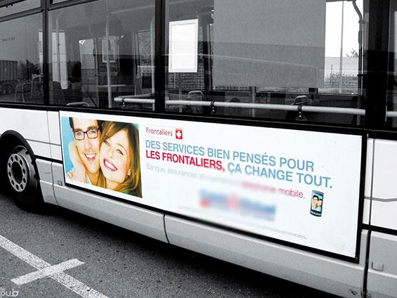 affichage de coté de bus