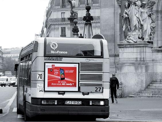 affichage dos de bus