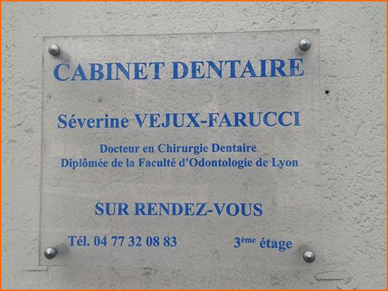 plaque professionnelle cabinet dentaire