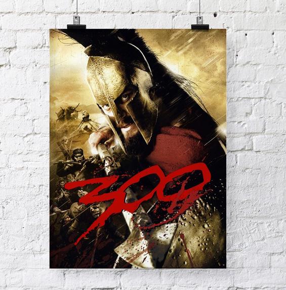 affiche suspendue imprimée sur papier 200 g M1