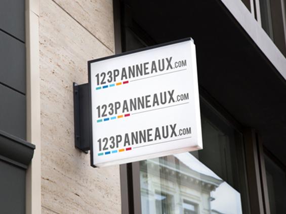 panneau lumineux indication de magasin