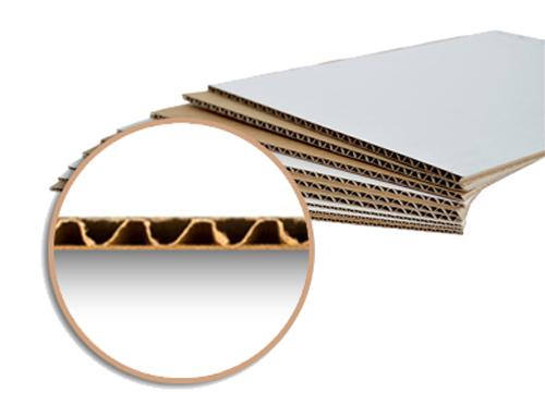 Carton simple micro cannelure