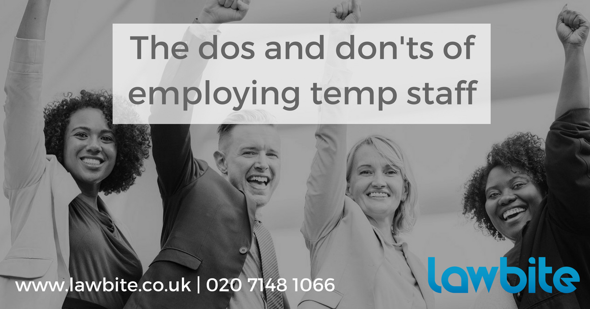 The dos and don'ts of employing temporary staff