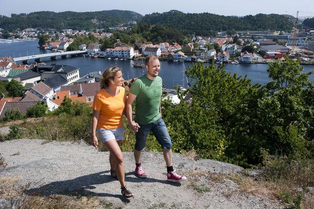 Mandal wandelen stad Noorwegen
