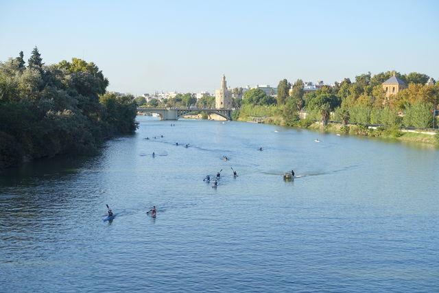 Rivier Rio Guadalquivir kayak Sevilla