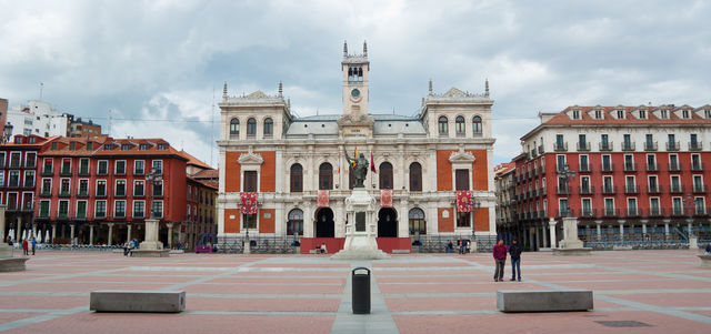 Plein La Plaza Mayor Valladolid Spanje