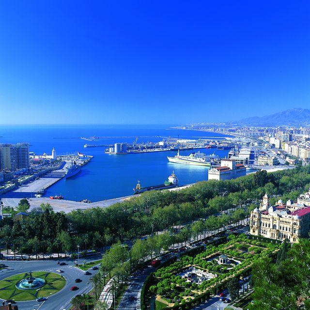 Malaga haven Andalusië Spanje