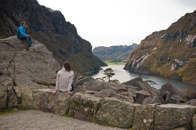 Rivier Bergen Haugesund Noorwegen