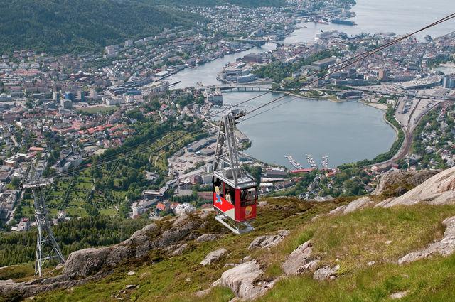 Bergen kabelbaan Noorwegen