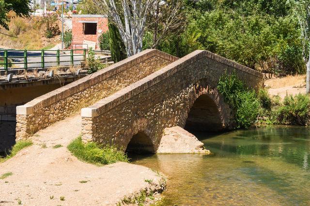 Brug Pont Ancien riofrio Spanje