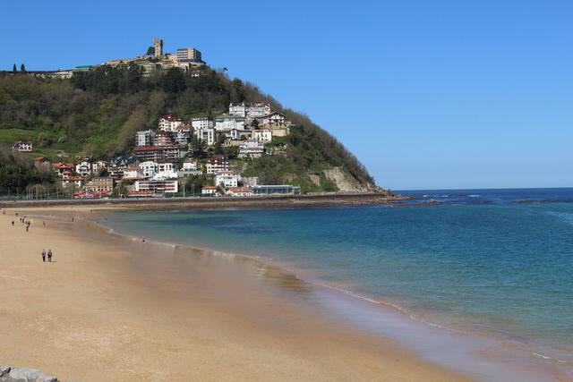San Sebastian Donostia strand Ondarreta