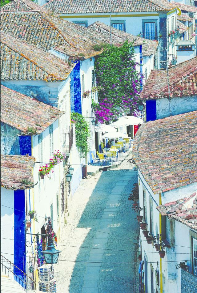 Rondreis Portugal Obidos straat