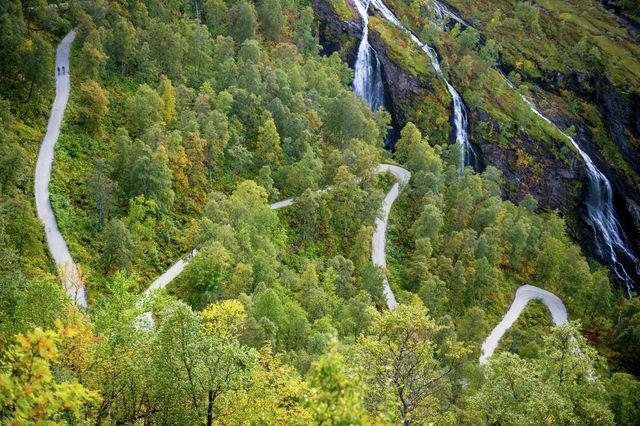 Navvies weg Voss Noorwegen