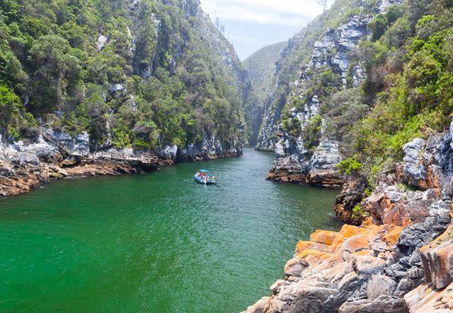 Rondreis Zuid-Afrika Tsitsikamma rivier boot