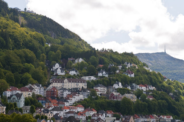 Bergen Floyen Noorwegen