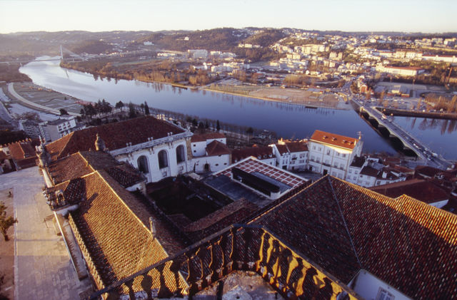 Coimbra stad rivier Portugal