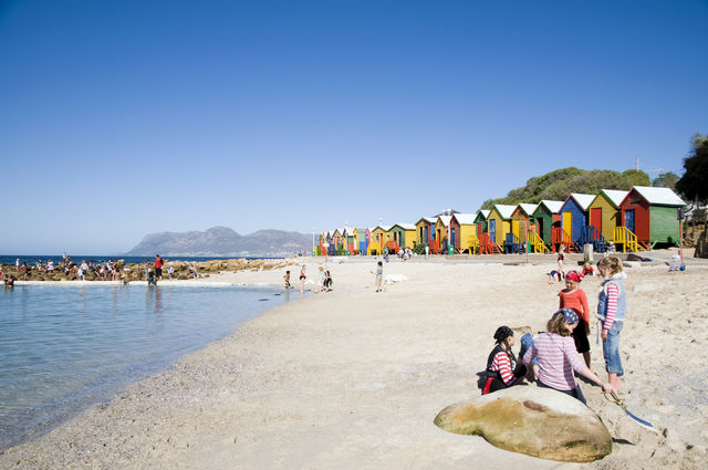 rondreis zuid-afrika, Kaapstad St James beach
