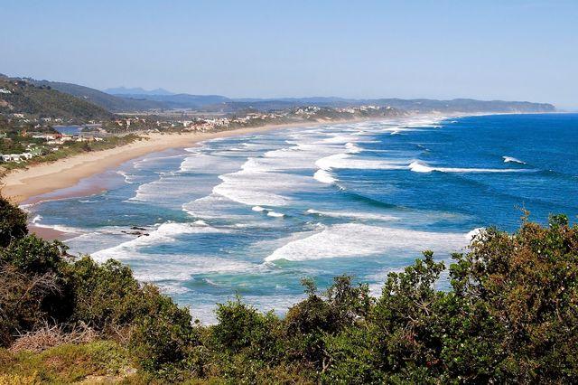 Rondreis Zuid-Afrika Wilderness strand vanaf viewpoint