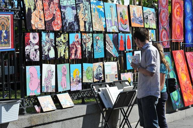 Kunstenaar Jackson Square Louisiana